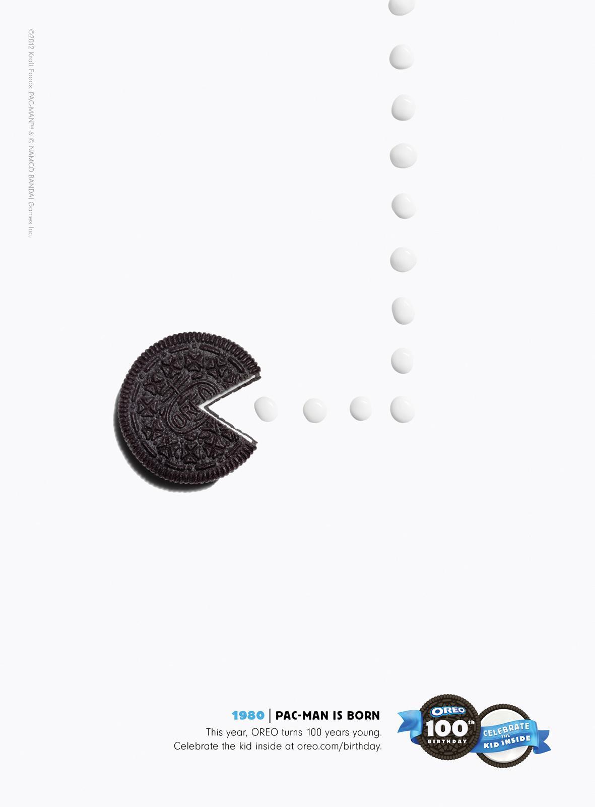 Oreo Print Ad -  Pac-Man