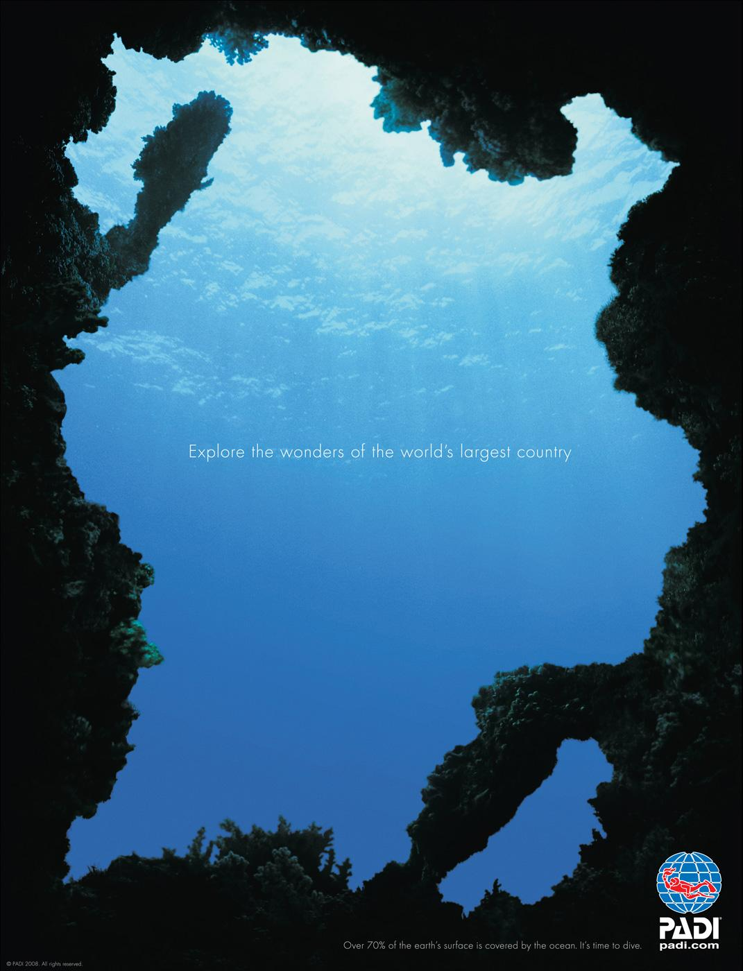 PADI Print Ad -  Country