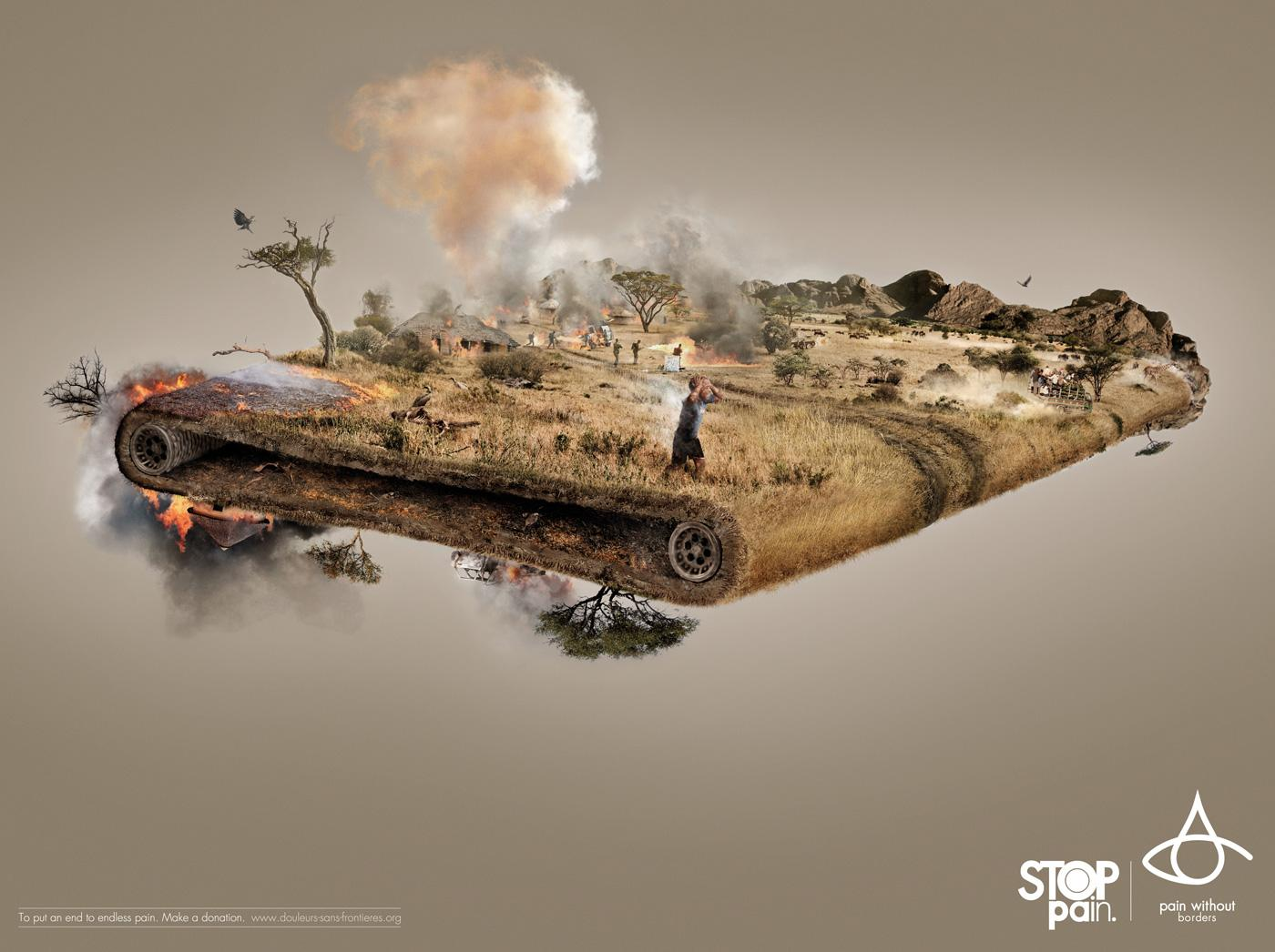 Pain Without Borders Print Ad -  Africa