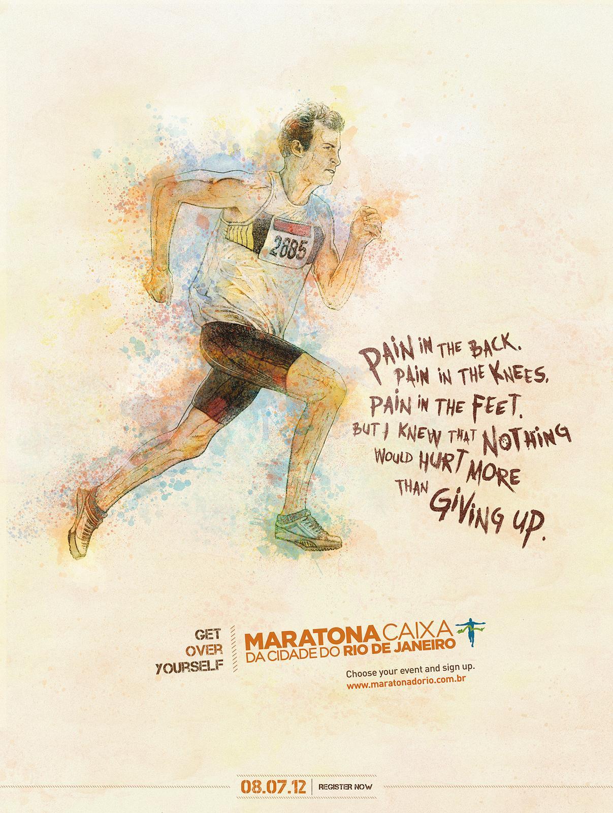 Maratona do Rio Print Ad -  Pain