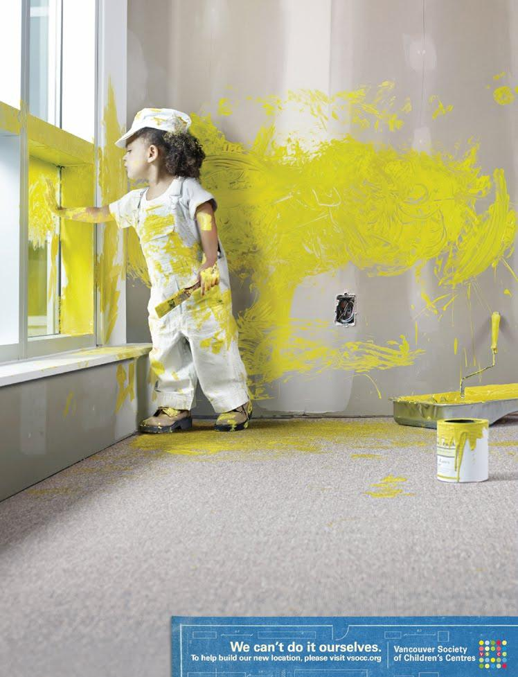 Vancouver Society of Children's Centres Print Ad -  Painter