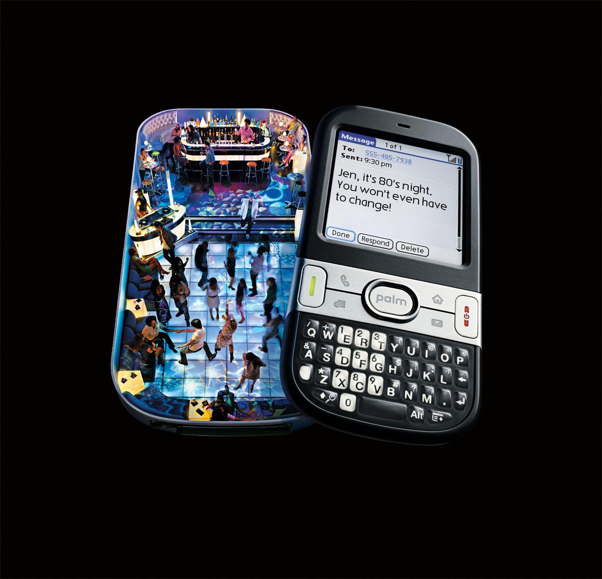 Palm Pilot Print Ad -  80's night