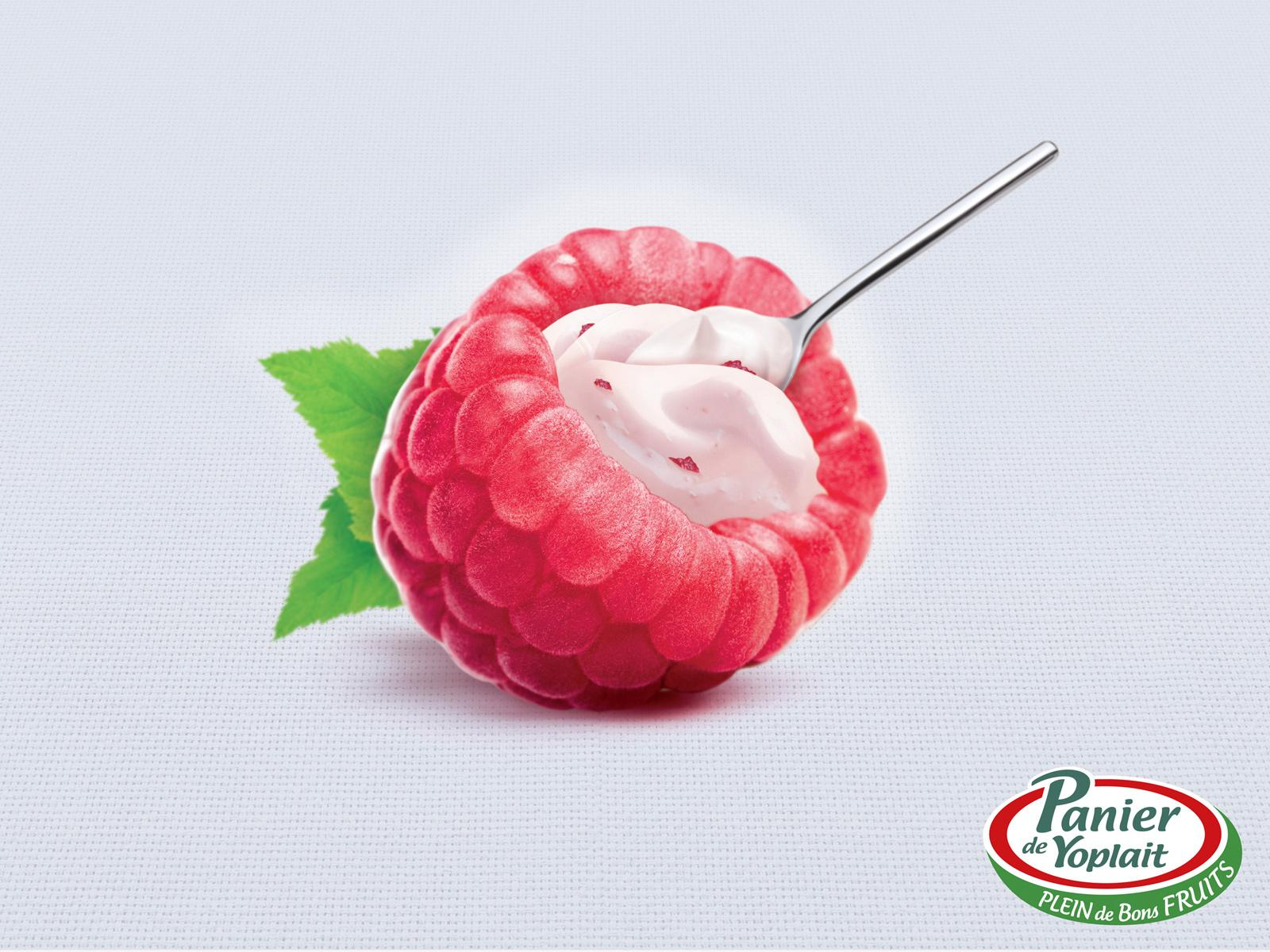 Yoplait Print Ad -  Rasberry