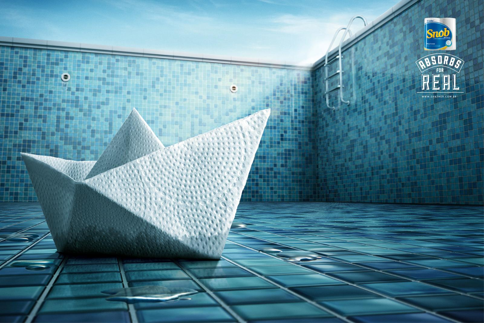Santher Print Ad -  Paper Boat