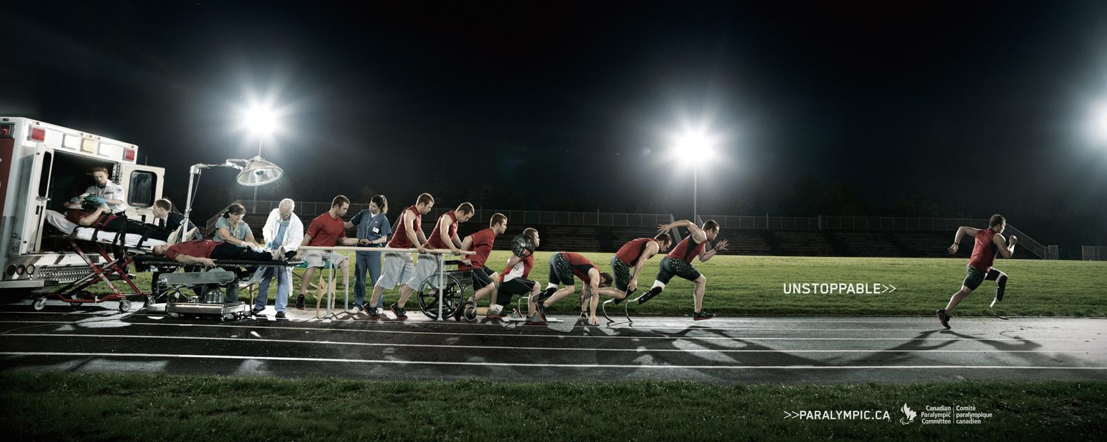 Canadian Paralympics Committee Print Ad -  Running (Unstoppable)