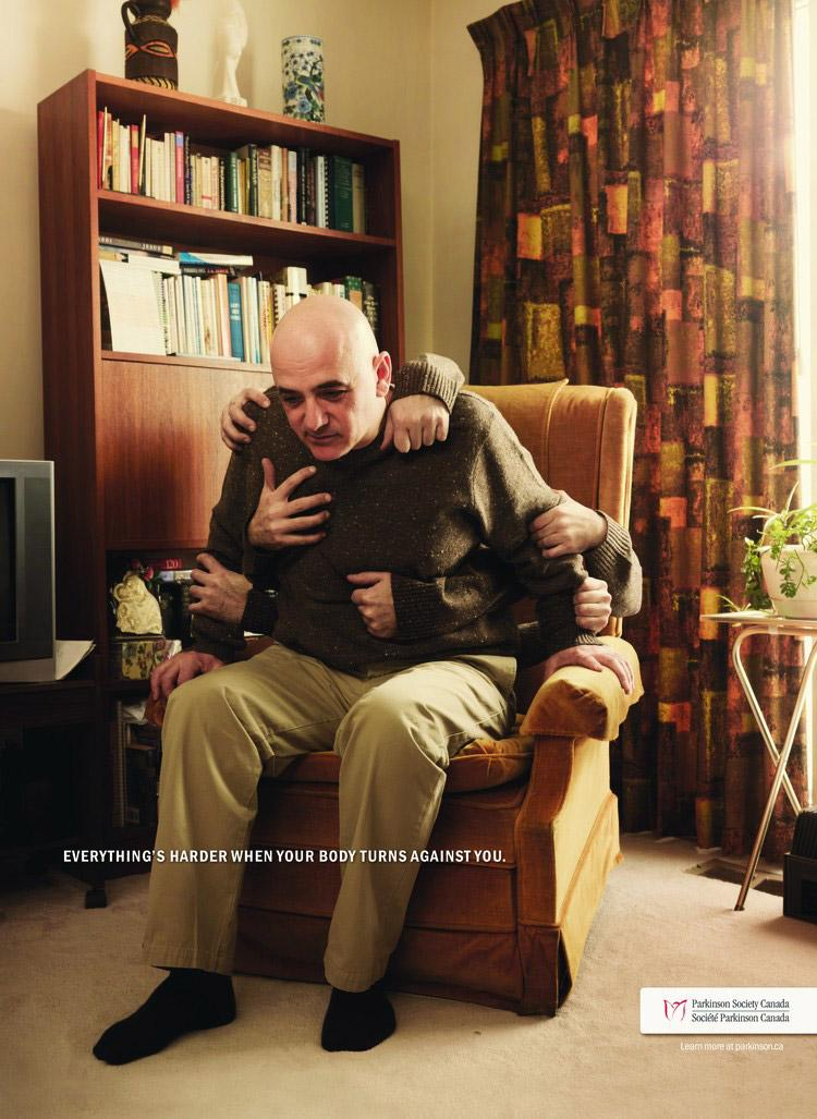 Parkinson Society Canada Print Ad -  Chair