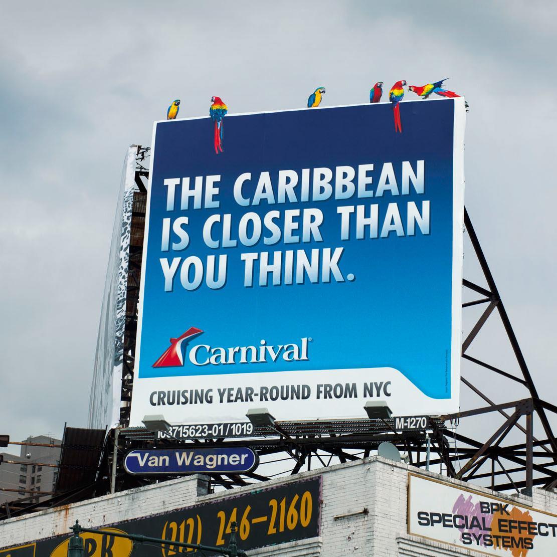 Carnival Outdoor Ad -  Parrot Billboard