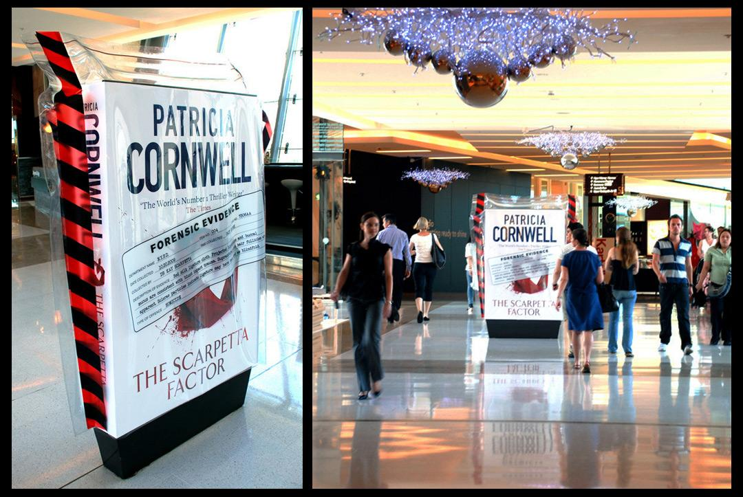 Patricia Cornwell Outdoor Ad -  Forensic evidence