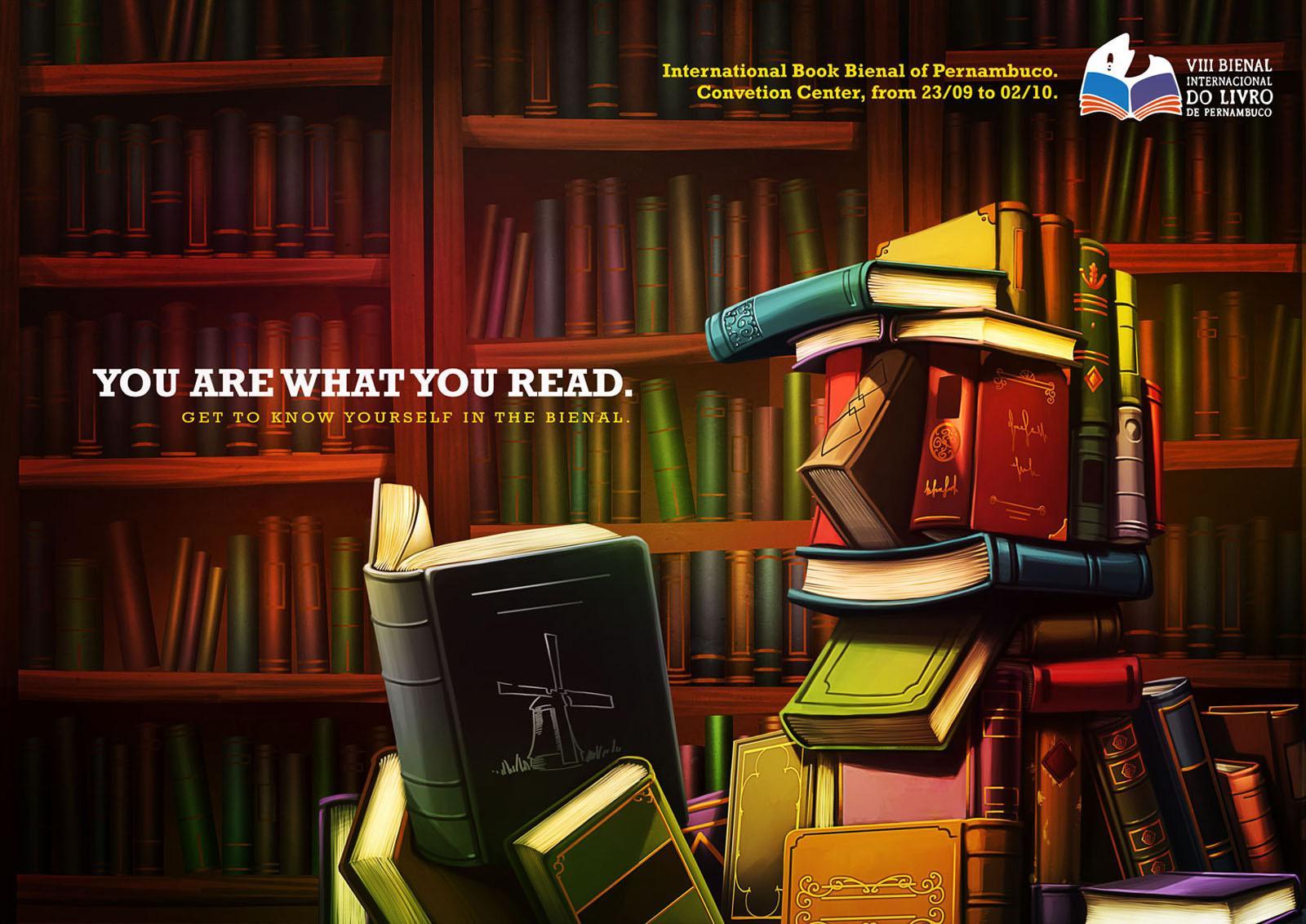 Book Biennial of Pernambuco Print Ad -  You're what you read, 2