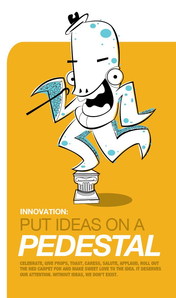 JWT Outdoor Ad -  Put ideas on a pedestal