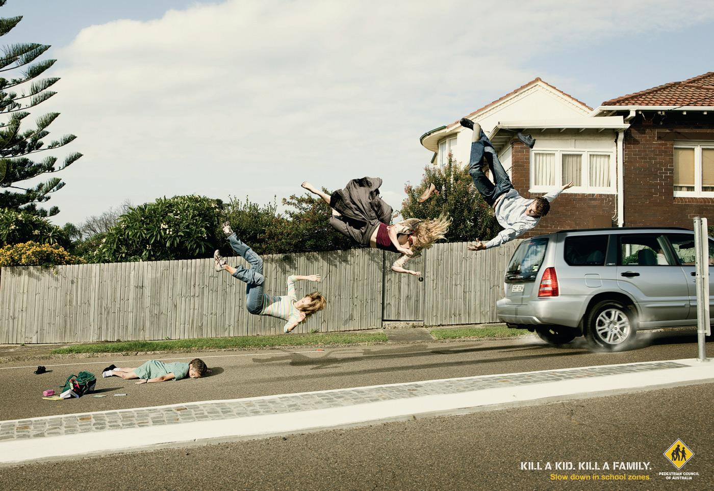 Pedestrian Council of Australia Print Ad -  Family, 2