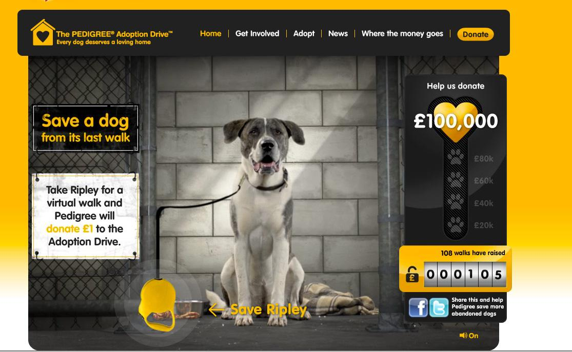Pedigree Digital Ad -  Virtual Dog Walk