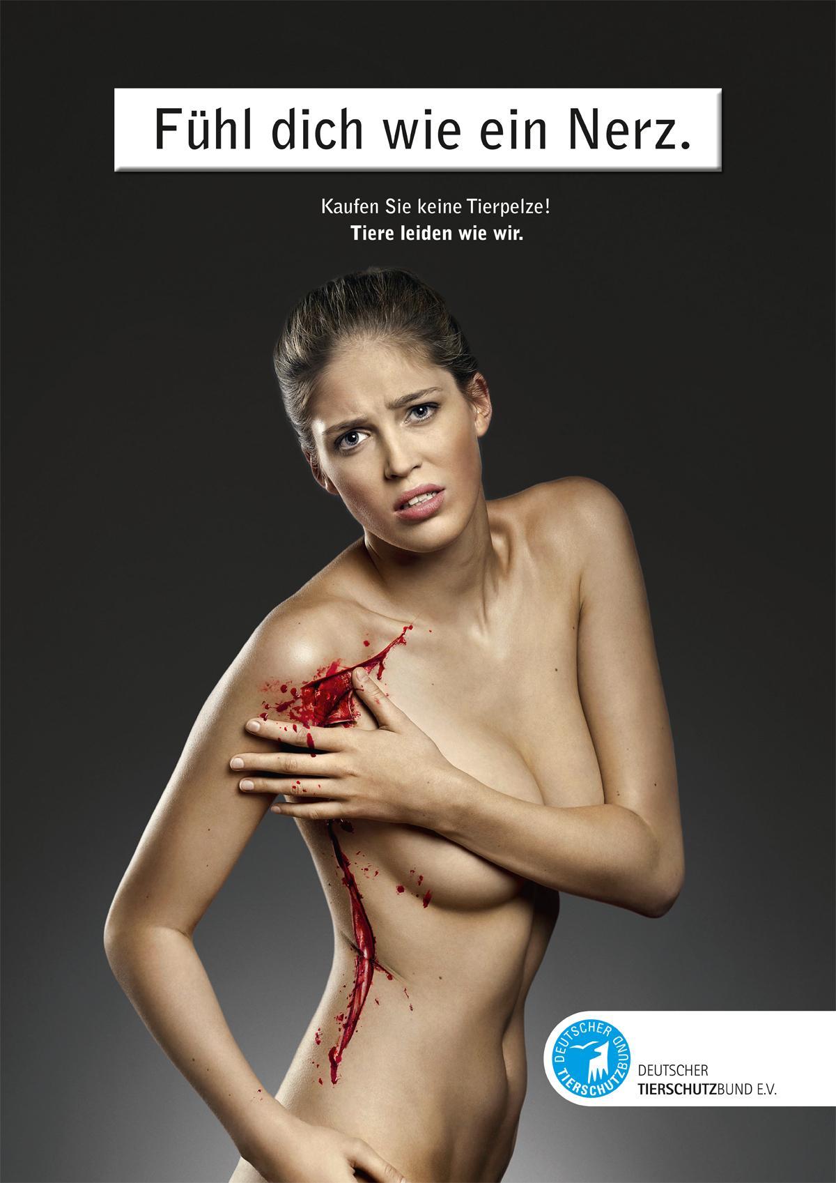 Deutscher Tierschutz Print Ad -  Animal Rights, Mink