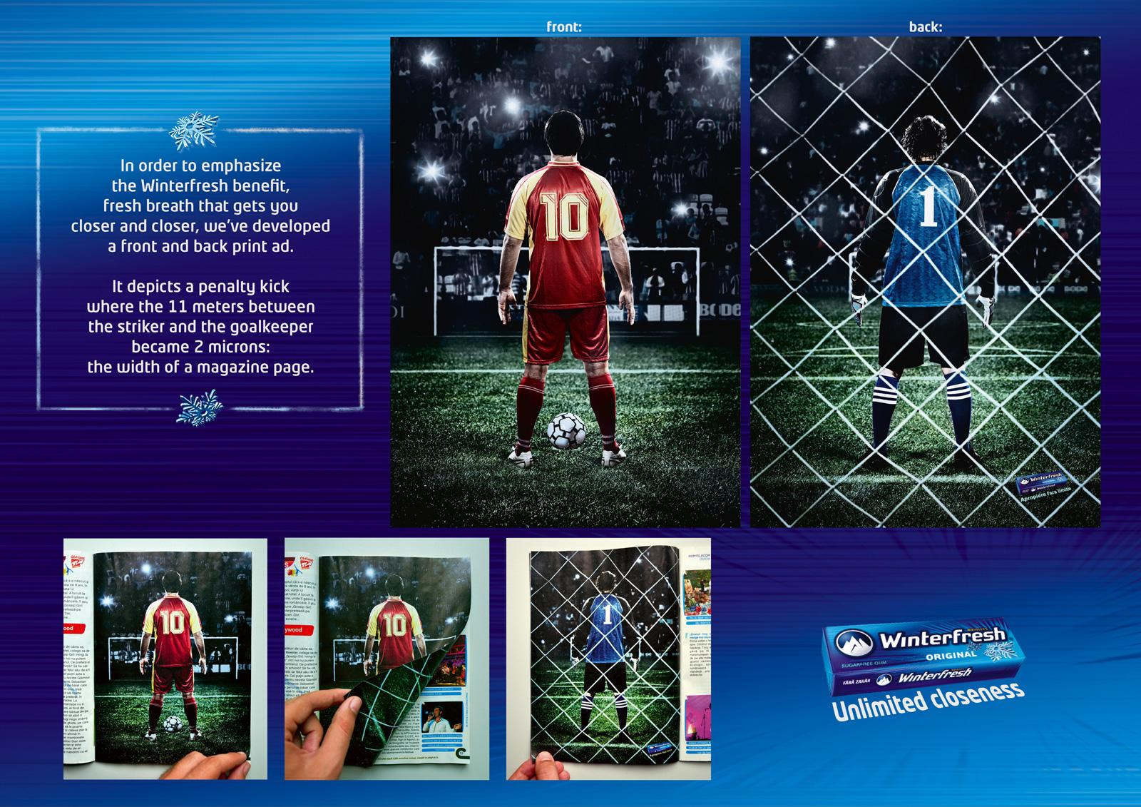 Winterfresh Print Ad -  Penalty Kick