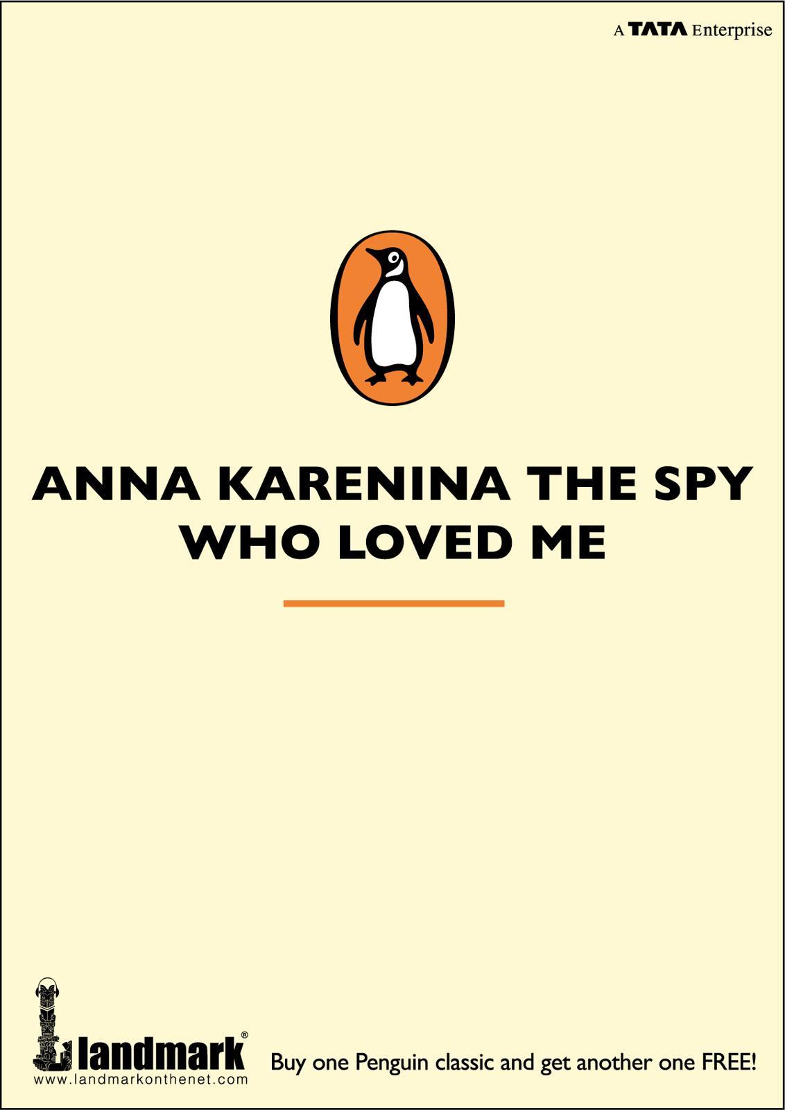 Penguin Print Ad -  Anna Karenina, the spy who loved me