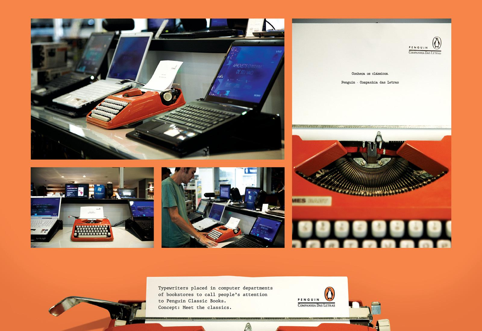 Penguin Ambient Ad -  Typewriter