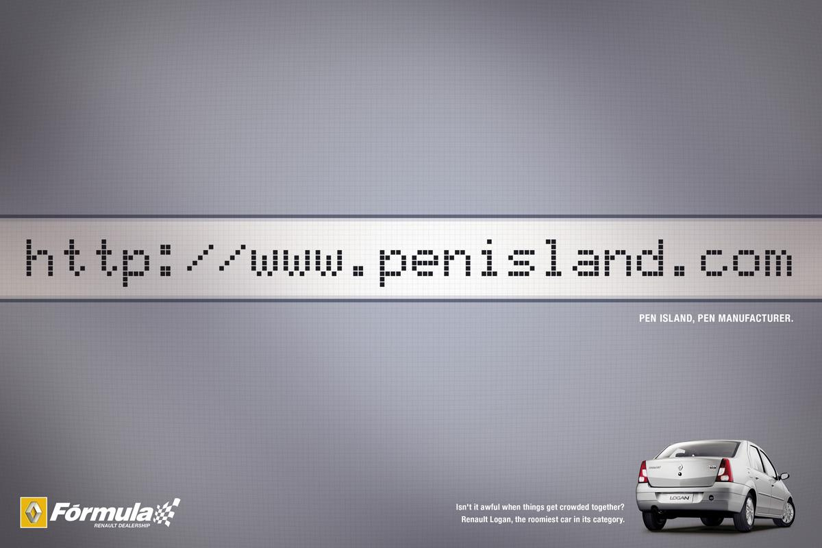 Renault Print Ad -  Internal Space, Pen Island