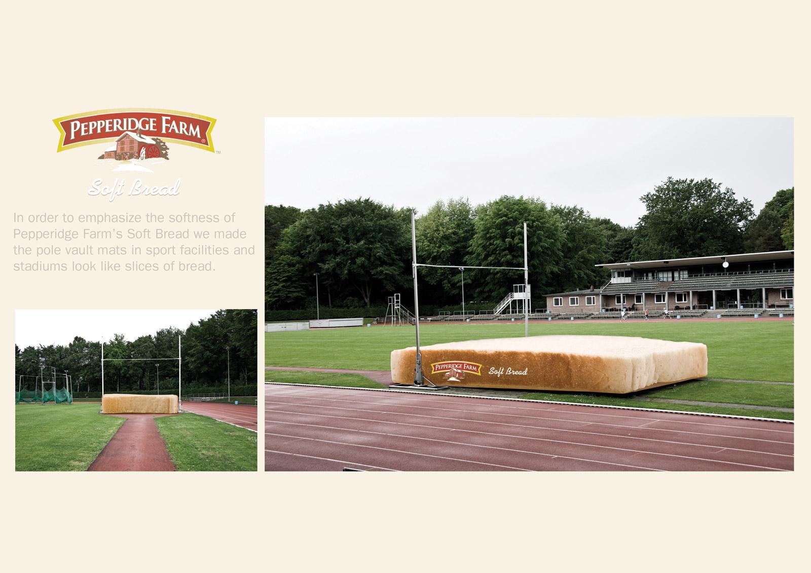 Pepperidge Farm Ambient Ad -  Pole vault mat