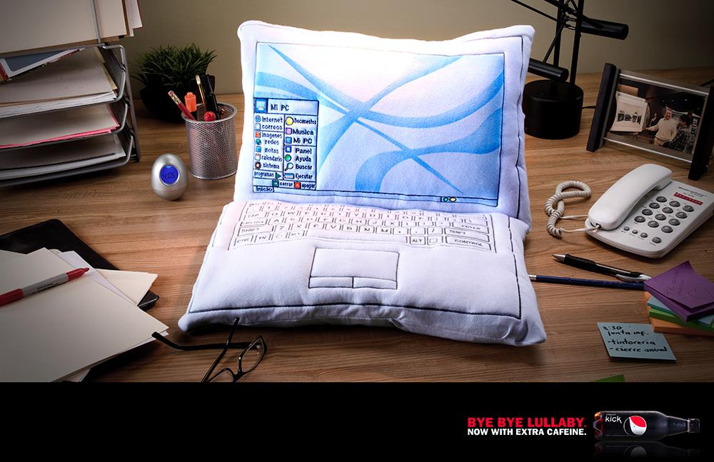 Pepsi Print Ad -  Pillow