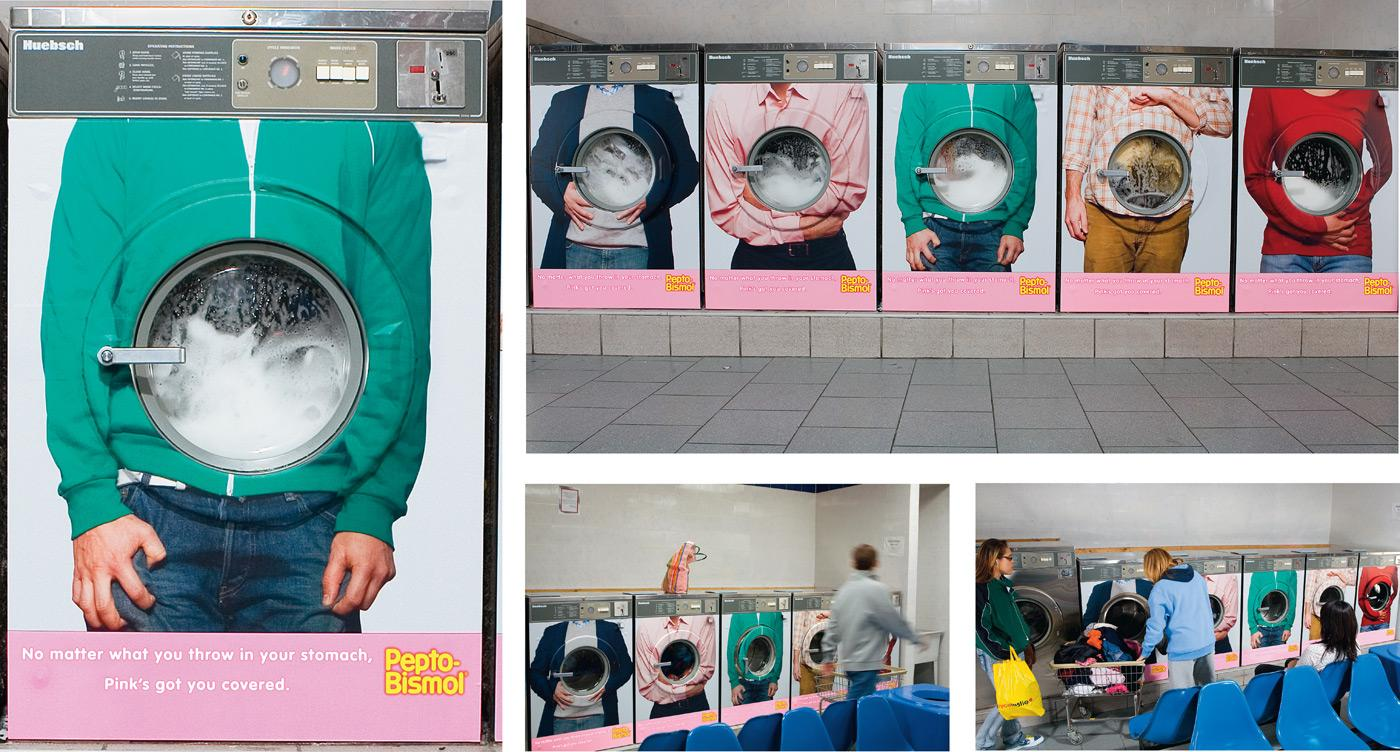 Pepto-Bismol Ambient Ad -  Laundromat