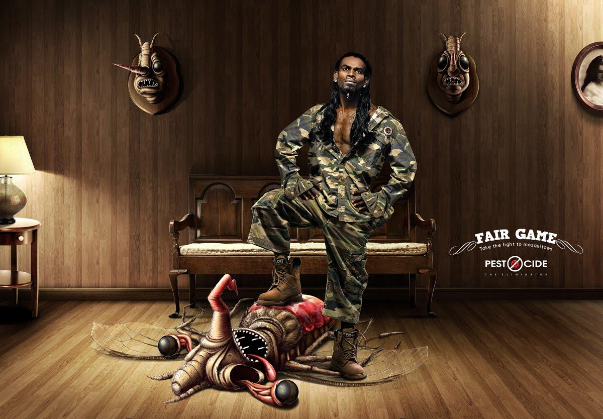 Pest'O'Cide Print Ad -  Fair Game