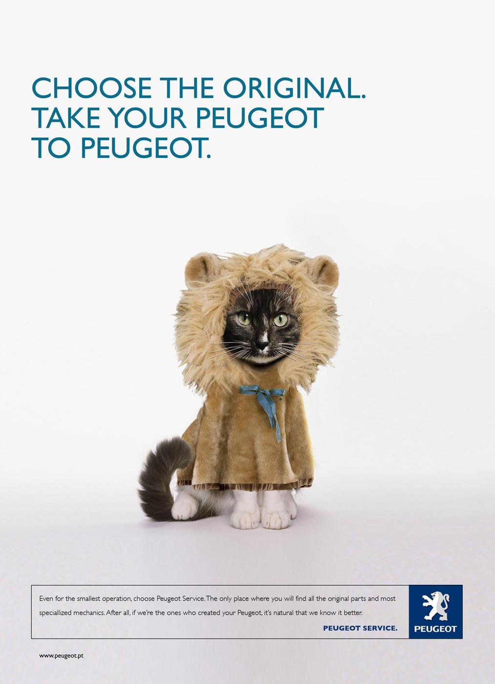 Peugeot Print Ad -  Cat