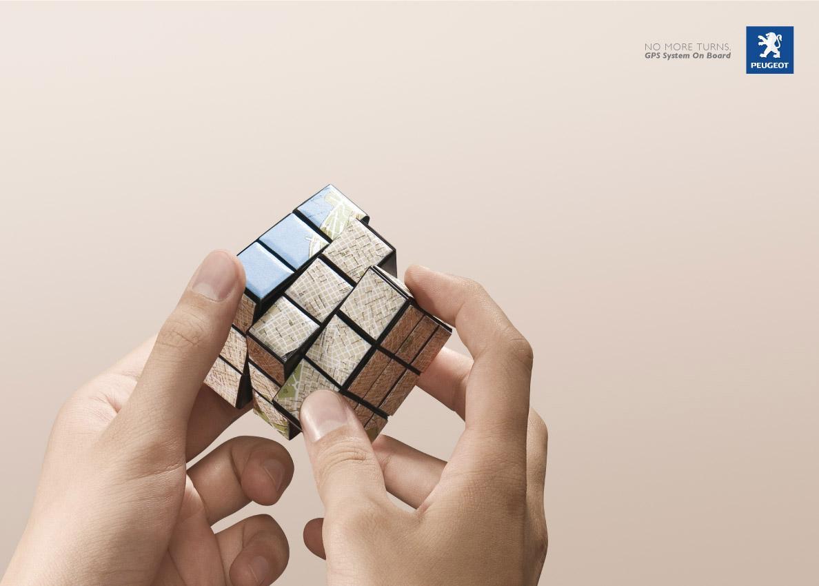 Peugeot Print Ad -  Cube