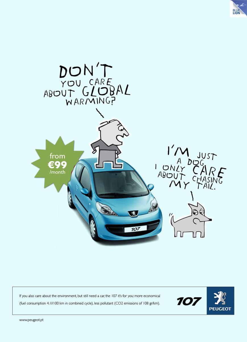 Peugeot Print Ad -  Global warming