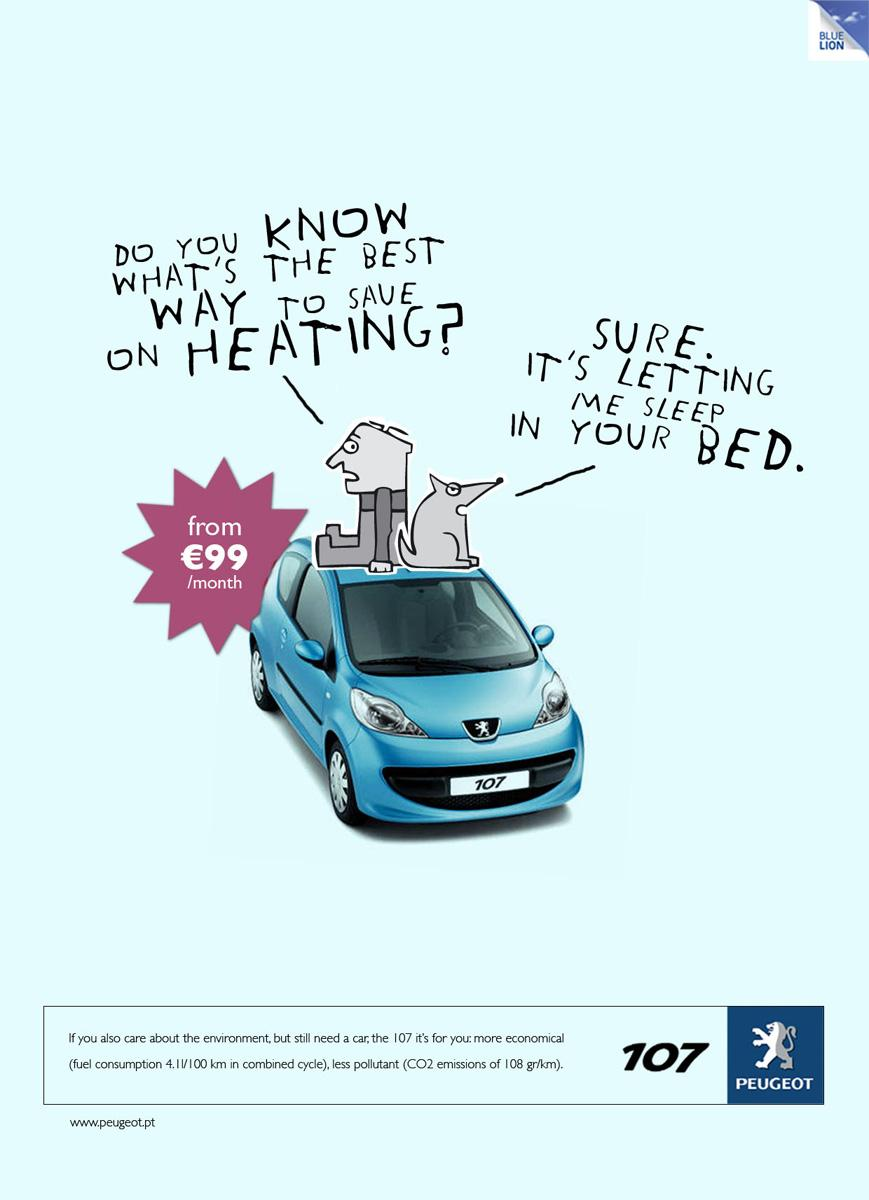 Peugeot Print Ad -  Heating