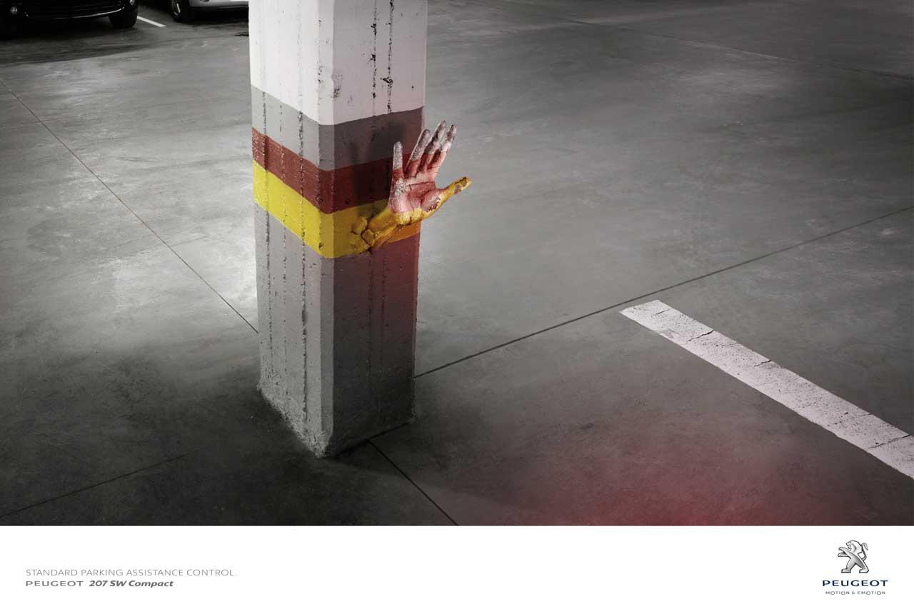 Peugeot Print Ad -  Underground parking garage