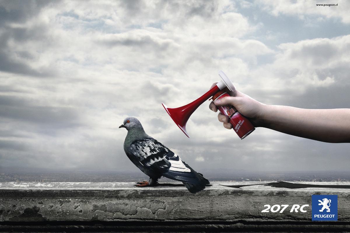 Peugeot Print Ad -  Pigeon