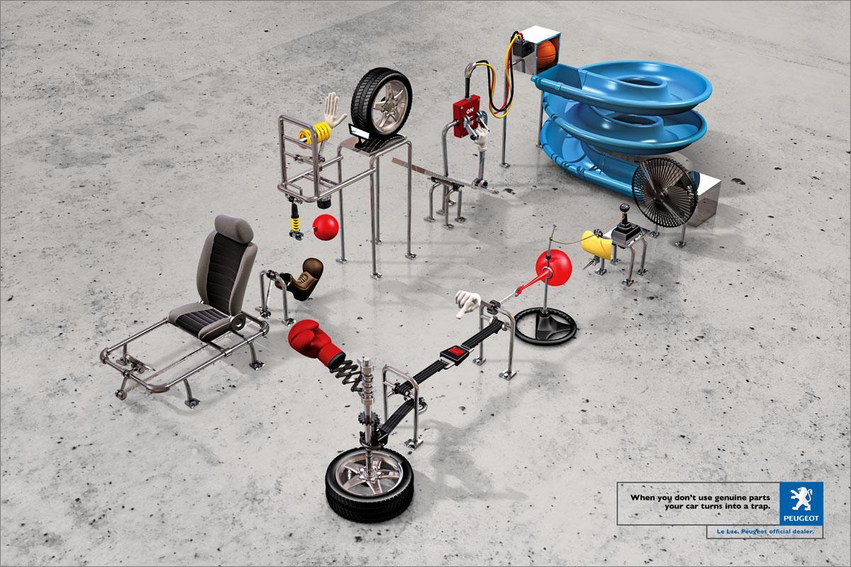 Peugeot Print Ad -  Trap, 2