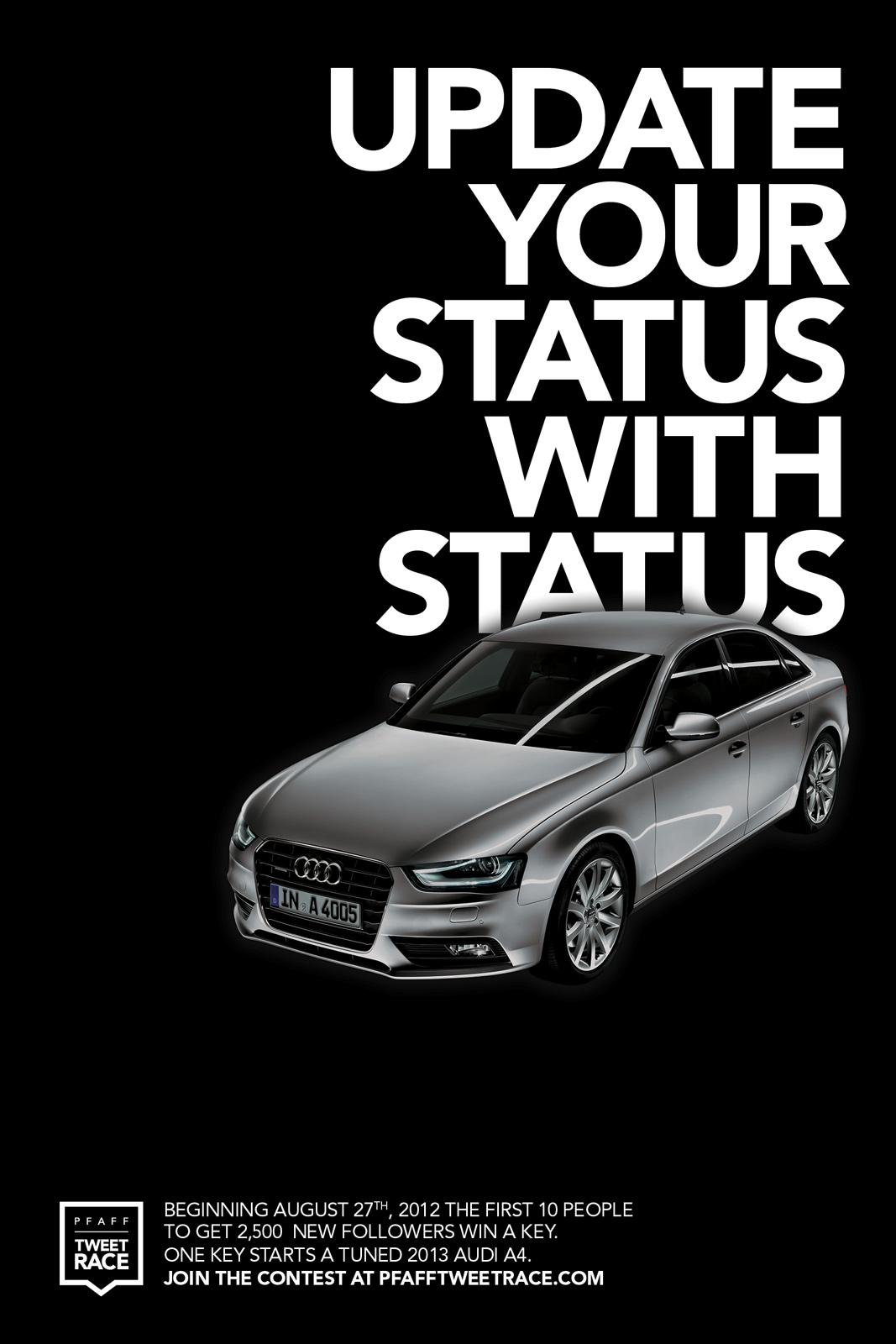 Audi Outdoor Ad -  Update your status with status