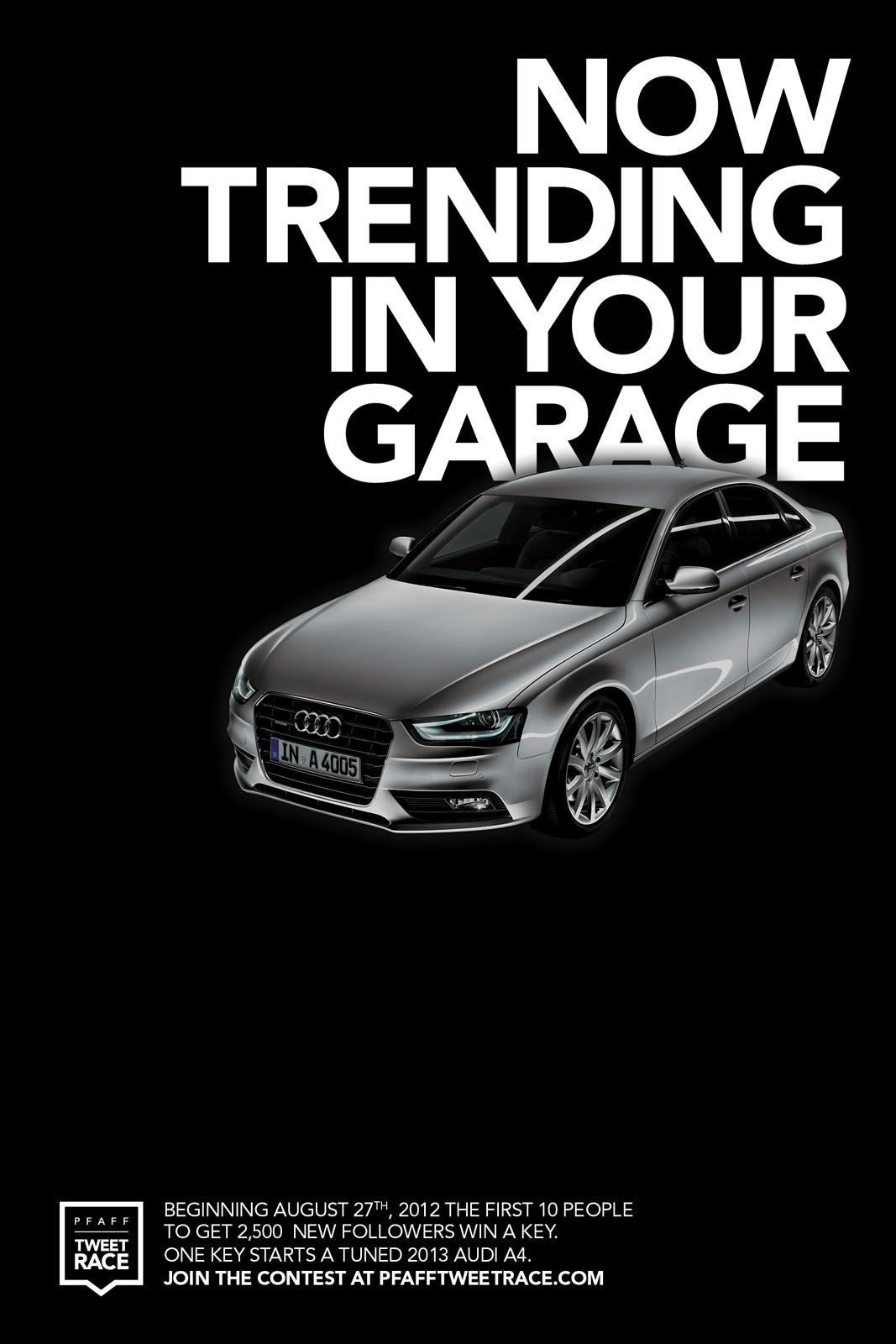 Audi Outdoor Ad -  Now trending in your garage