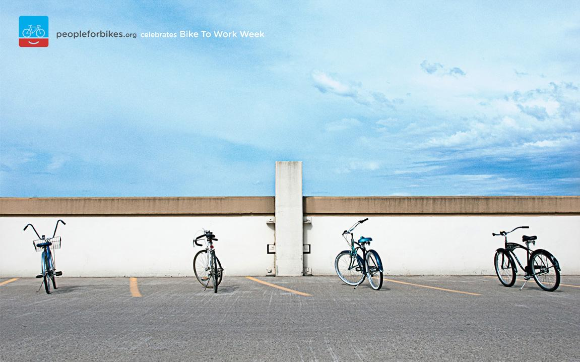 People for Bikes Print Ad -  Parking lot