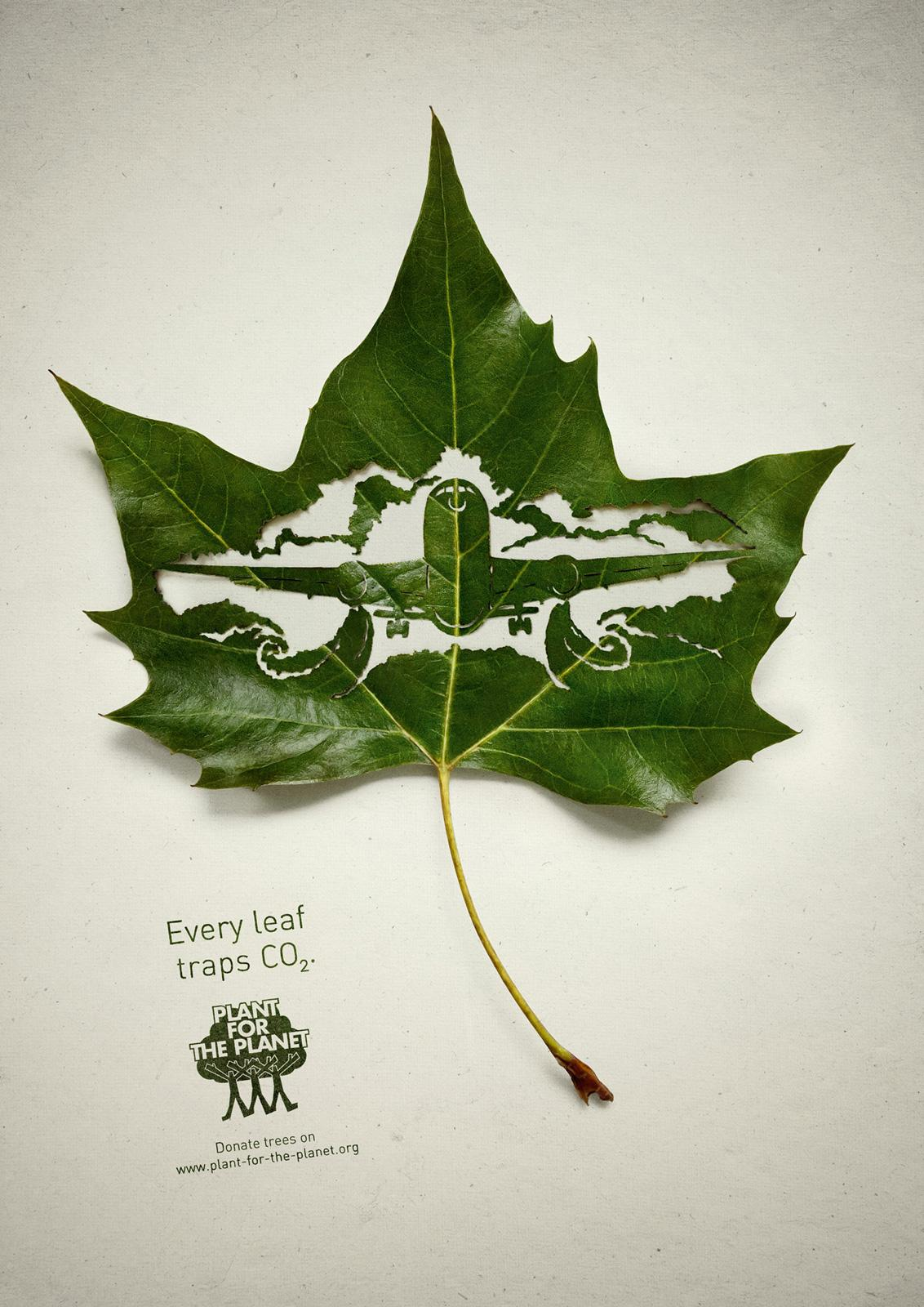 Plant for the planet Print Ad -  Plane