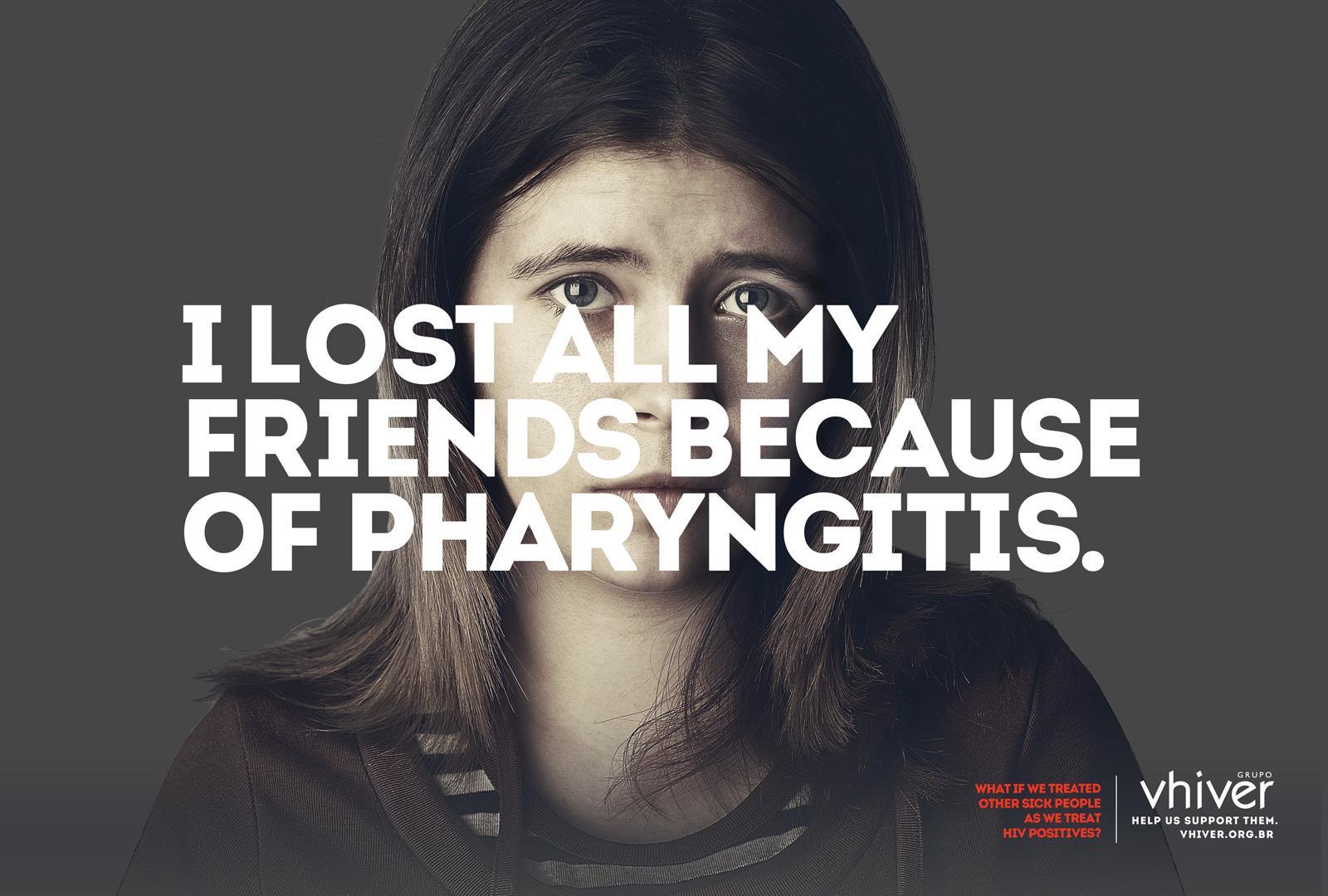 Grupo Vhiver Print Ad -  Pharyngitis