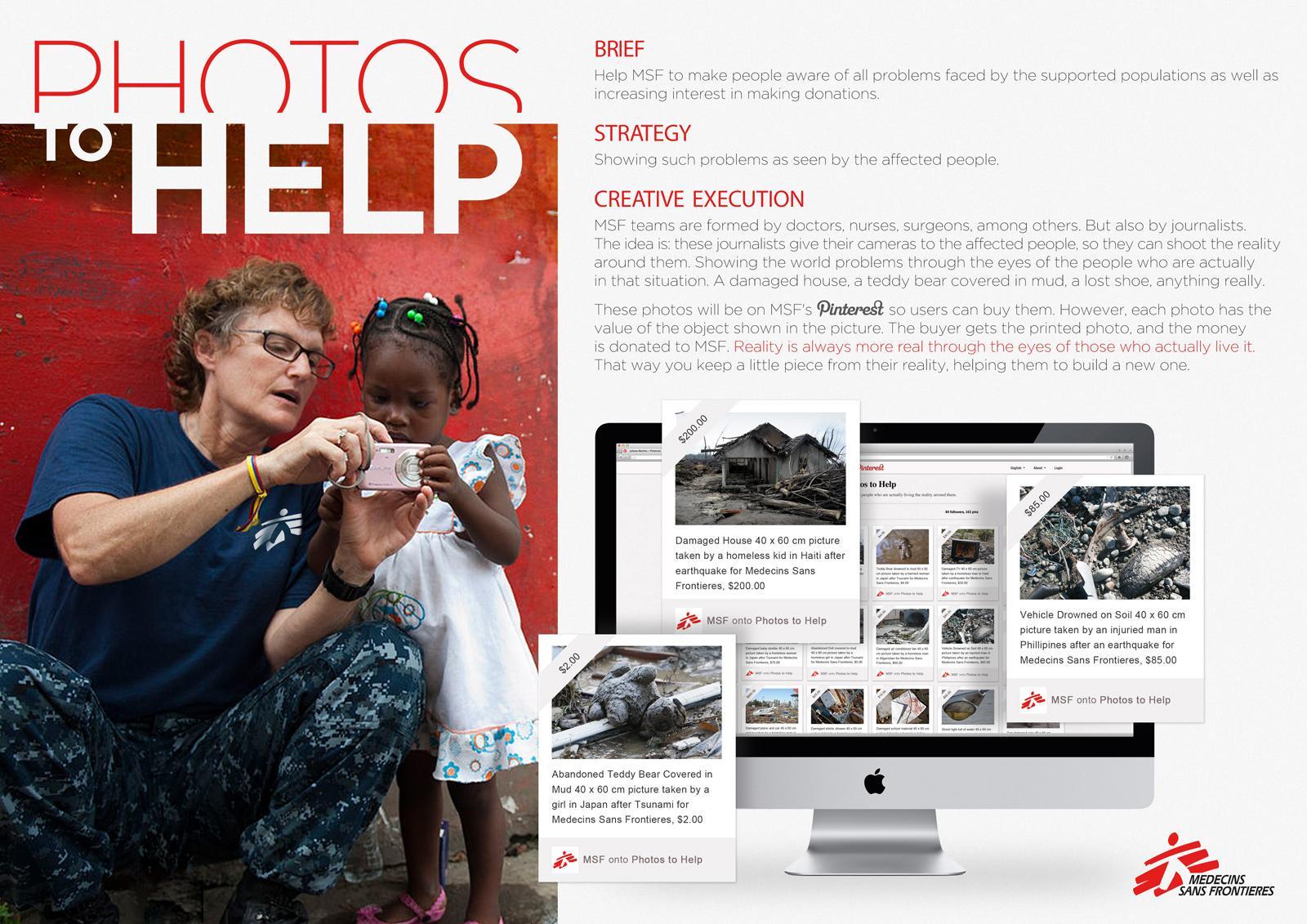 Medecins Sans Frontieres Ambient Ad -  Photos to Help