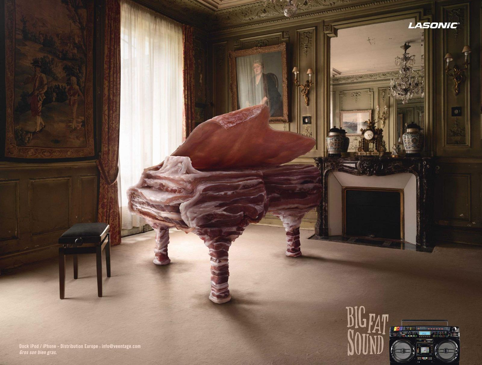 Lasonic Print Ad -  Big Fat Sound, Piano
