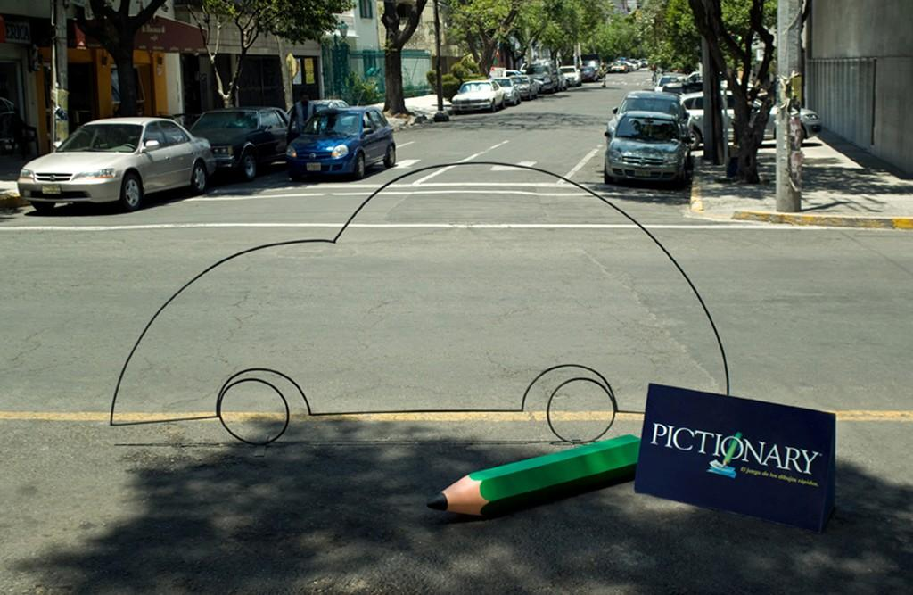 Pictionary Print Ad -  Car