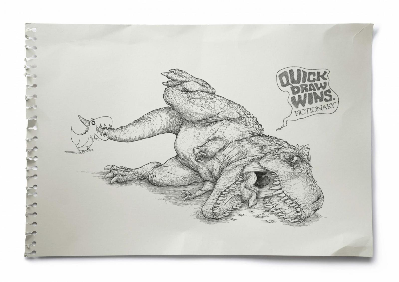 Pictionary Print Ad -  T-Rex