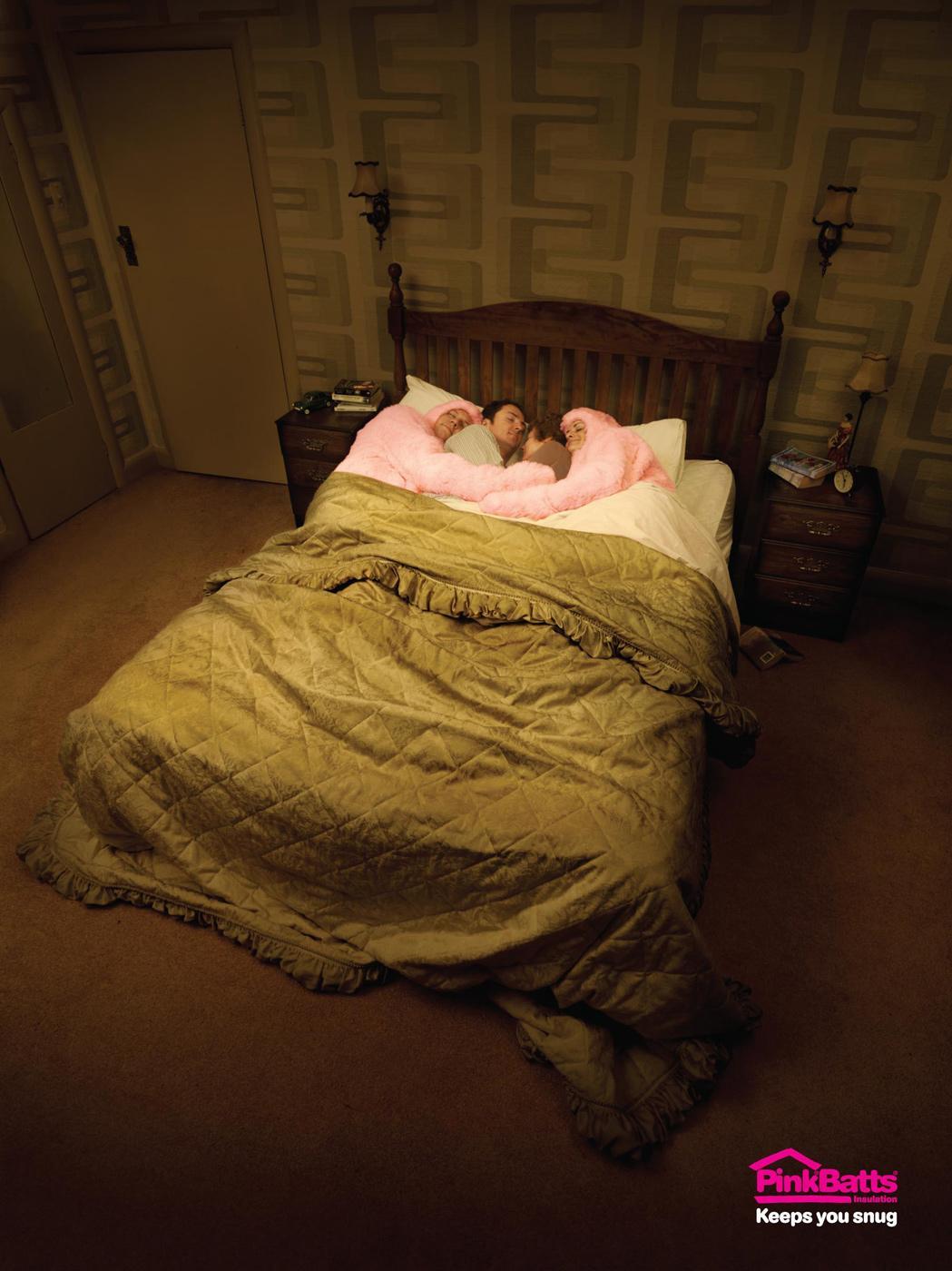 Pink Batts Print Ad -  Bed
