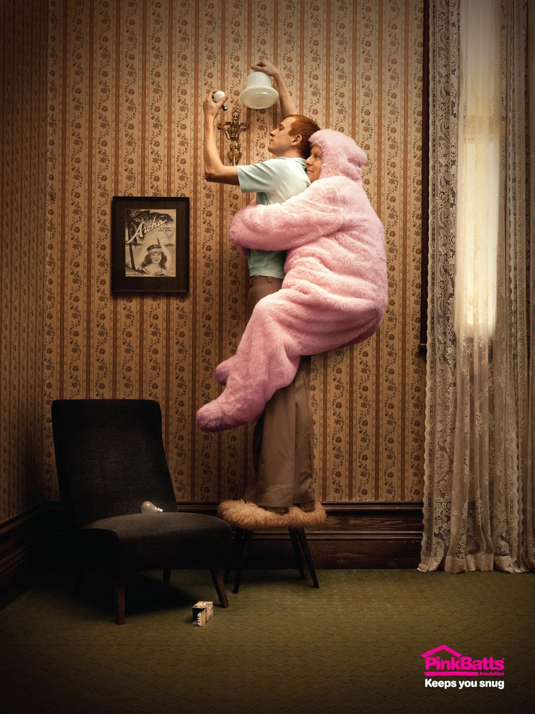 Pink Batts Print Ad -  Light bulb