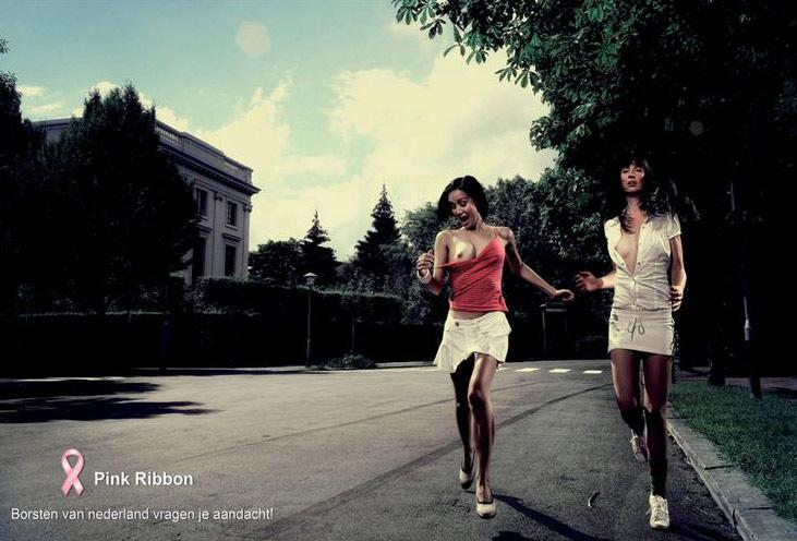 Pink Ribbon Print Ad -  Run