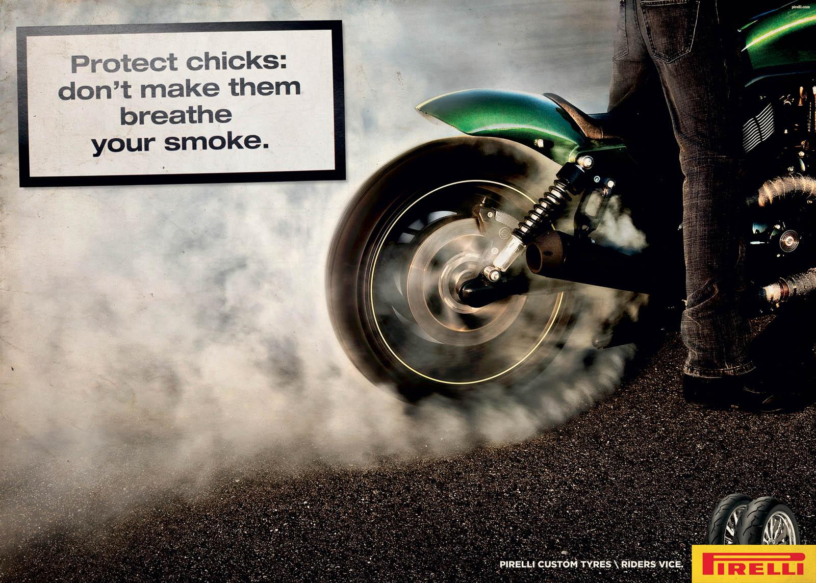 Pirelli Print Ad -  Smoke, 1