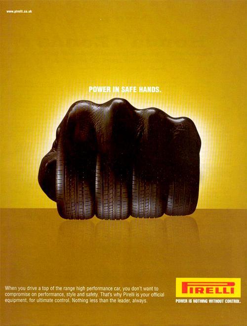 Pirelli Print Ad -  Fist