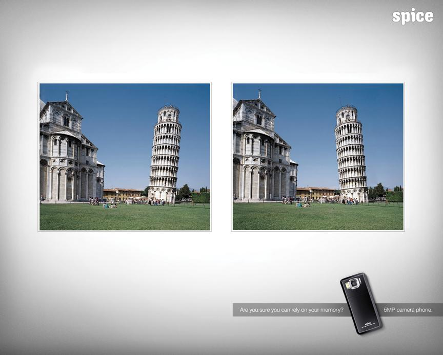 Spice Print Ad -  Tower of Pisa