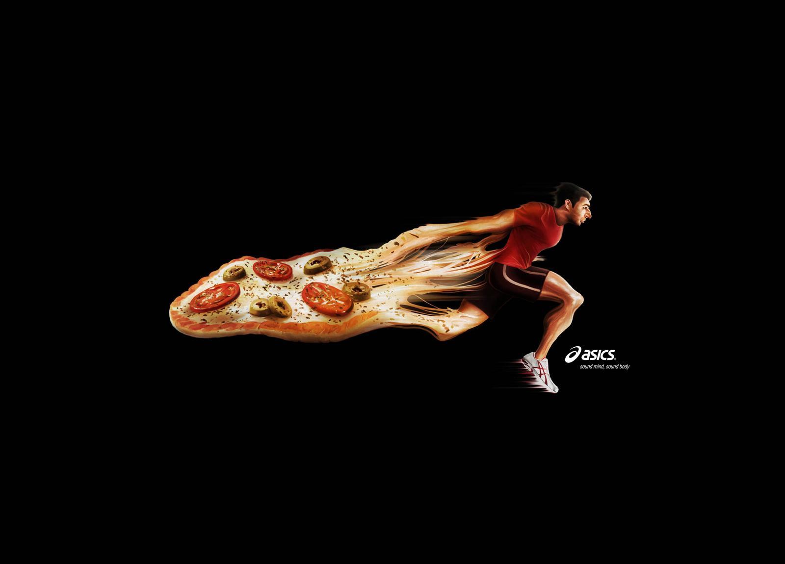 ASICS Print Ad -  Pizza