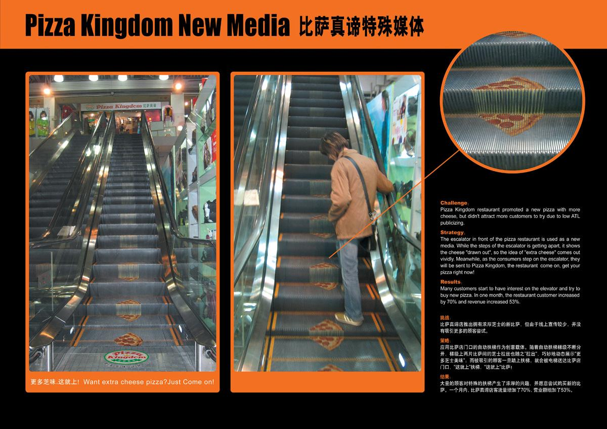 Pizza Kingdom Ambient Ad -  Escalator