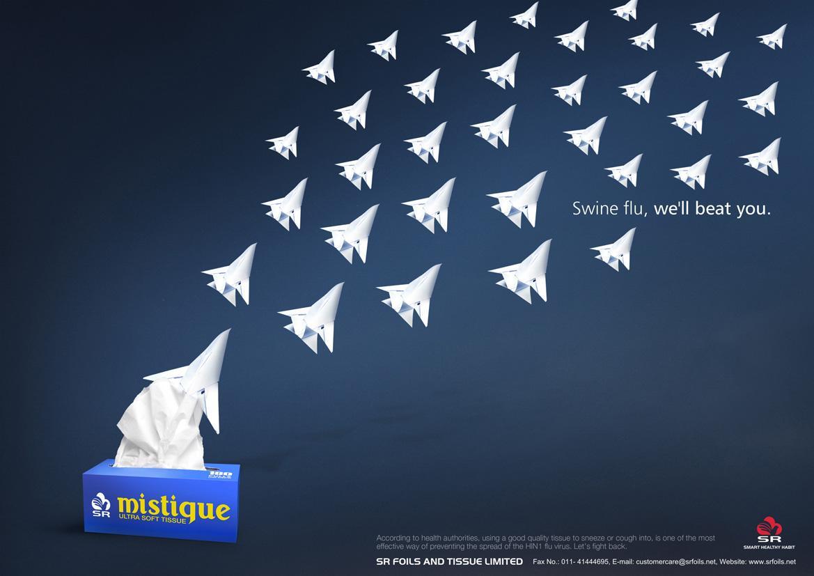 Mistique Tissue Print Ad -  PLanes